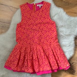 Juicy Couture Girls Peplum Blouse Size 6/7